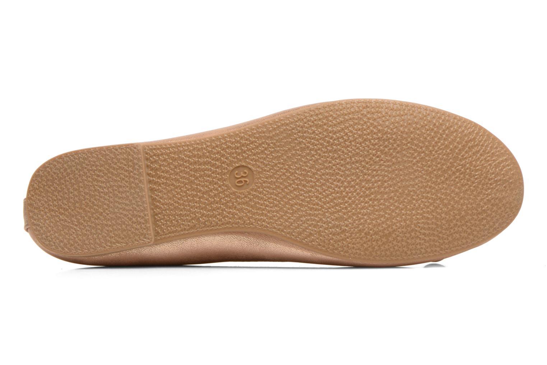 Ballerines I Love Shoes Sufllatina Or et bronze vue haut