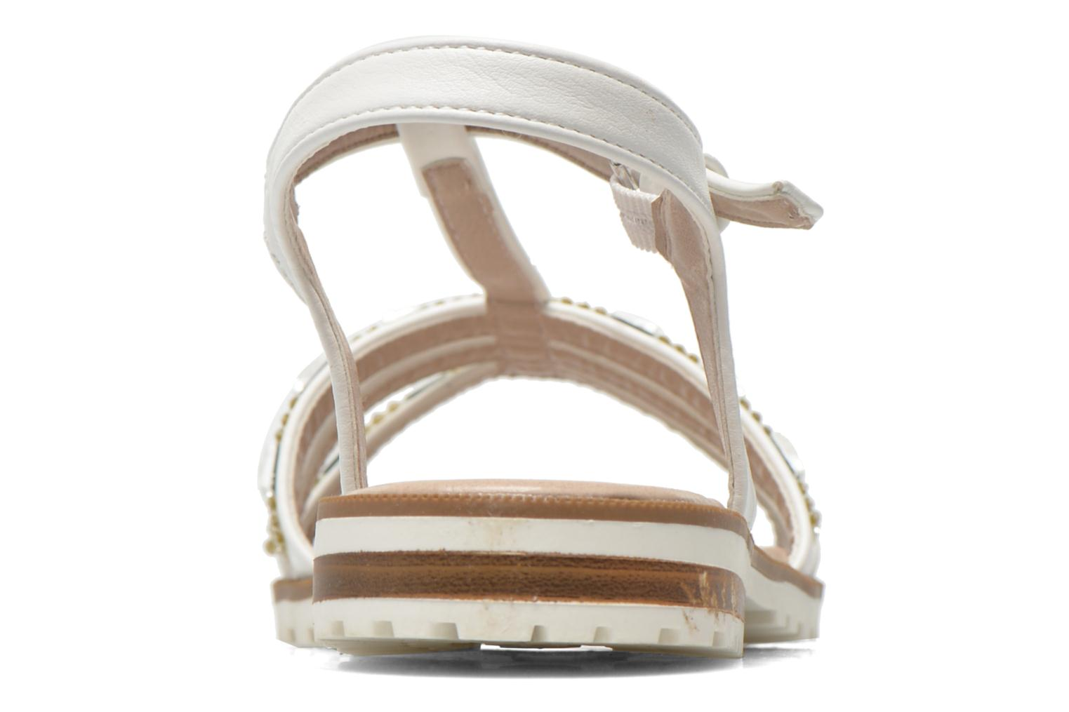 Sandals I Love Shoes Sutrass White view from the right