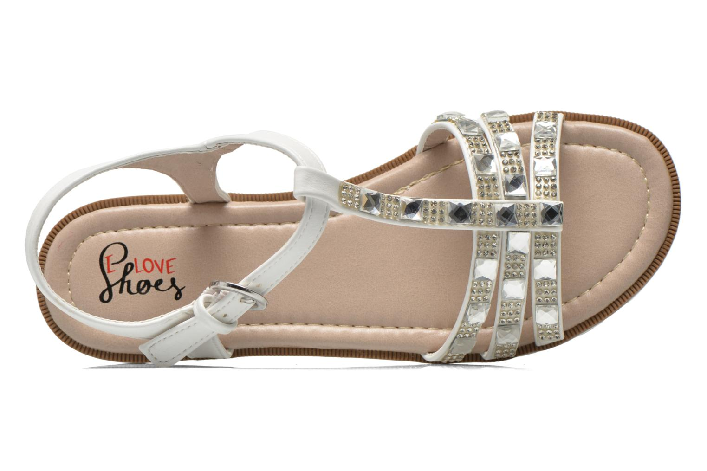 Sandalen I Love Shoes Sutrass weiß ansicht von links