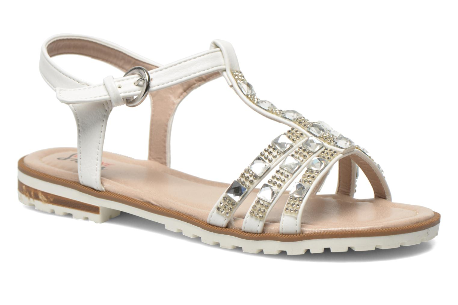 Sandals I Love Shoes Sutrass White detailed view/ Pair view