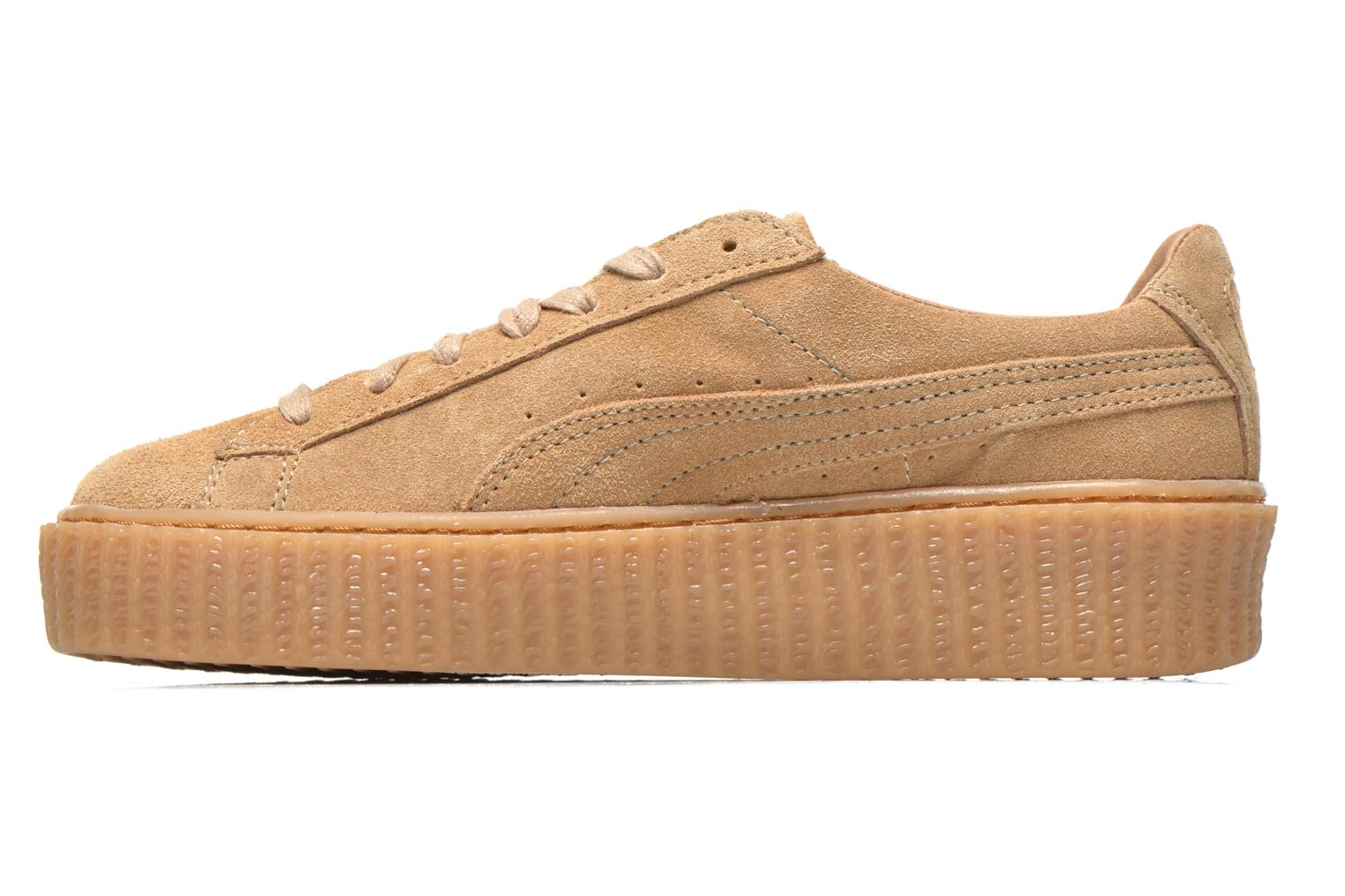 Baskets Puma WNS Suede Creepers Marron vue face