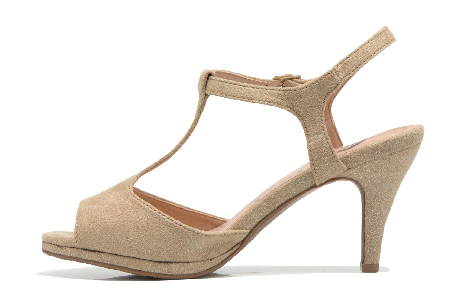 Sandals Refresh Wanita Bronze and Gold front view