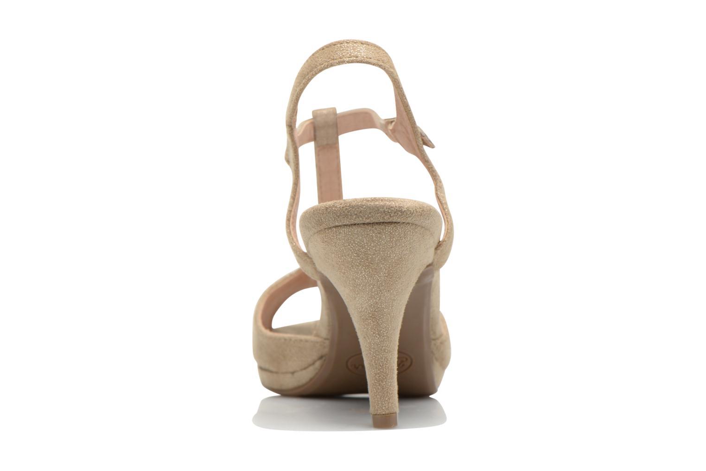 Sandales et nu-pieds Refresh Wanita Or et bronze vue droite