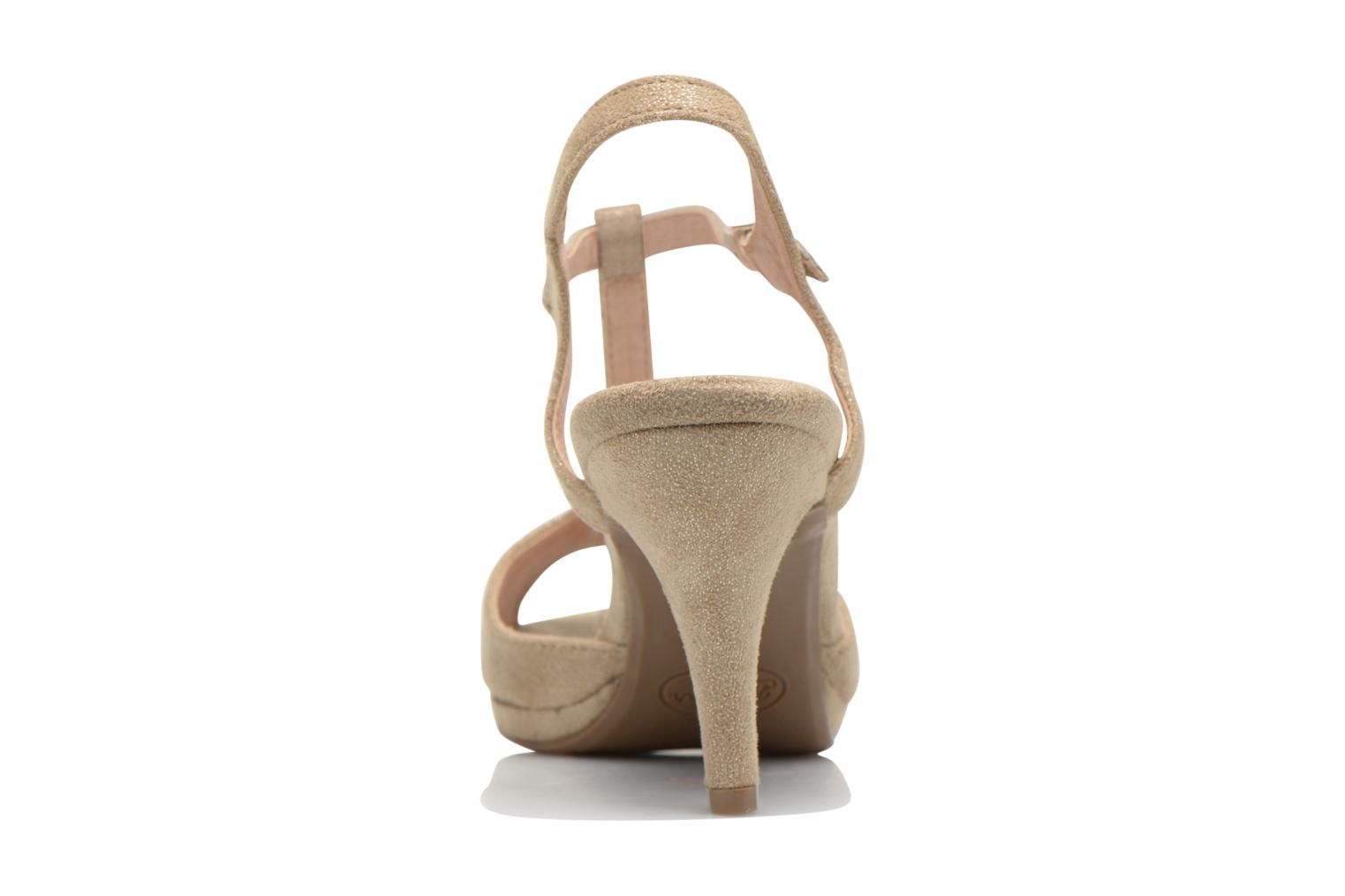 Sandals Refresh Wanita Bronze and Gold view from the right