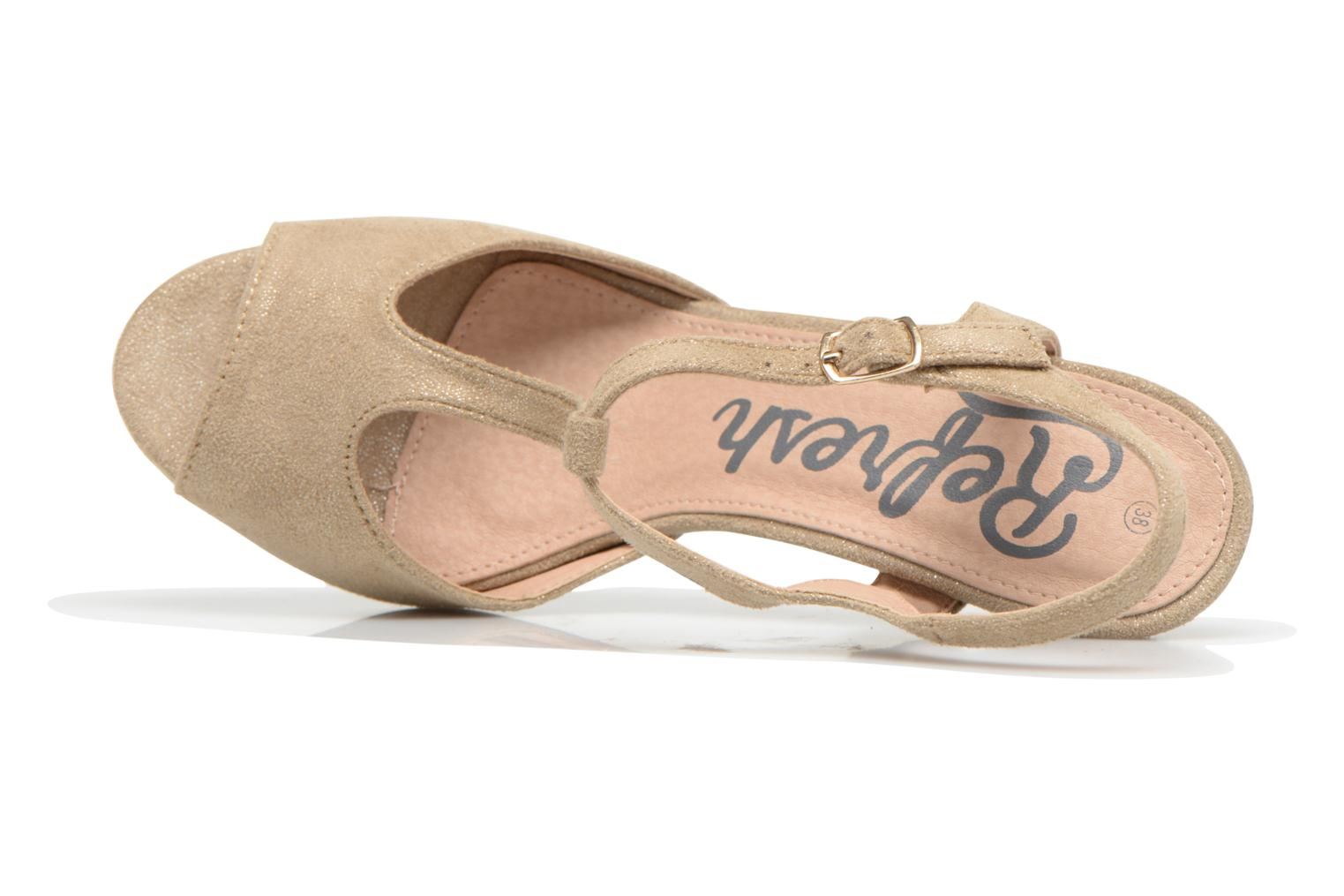 Sandals Refresh Wanita Bronze and Gold view from the left