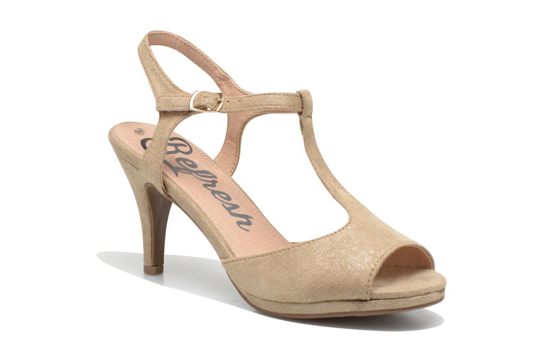Sandales et nu-pieds Refresh Wanita Or et bronze vue détail/paire