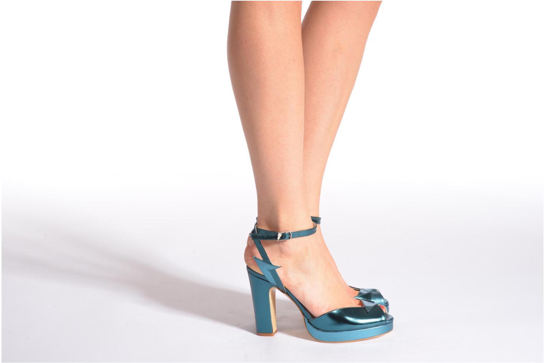 Sandales et nu-pieds Terry de Havilland MARISSA Bleu vue bas / vue portée sac