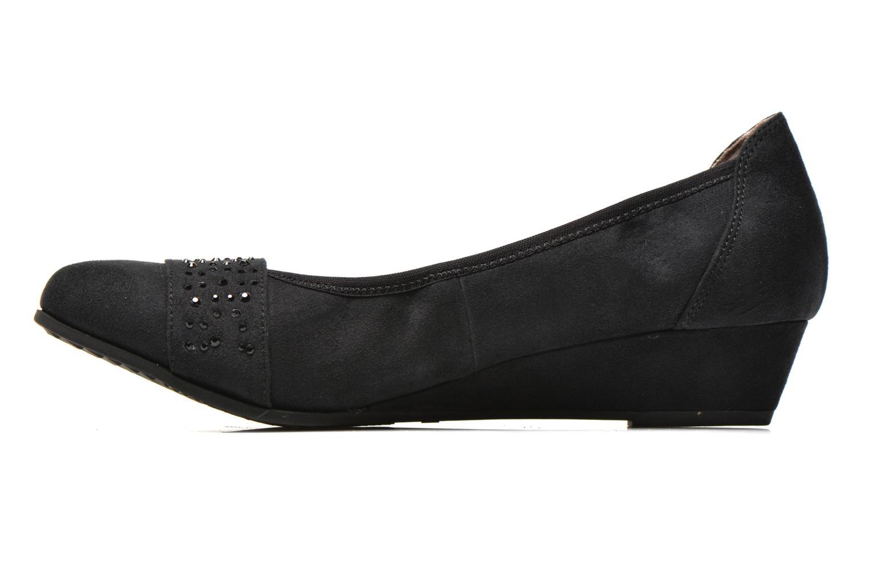 Zapatos de tacón Jana shoes Dolina Negro vista de frente