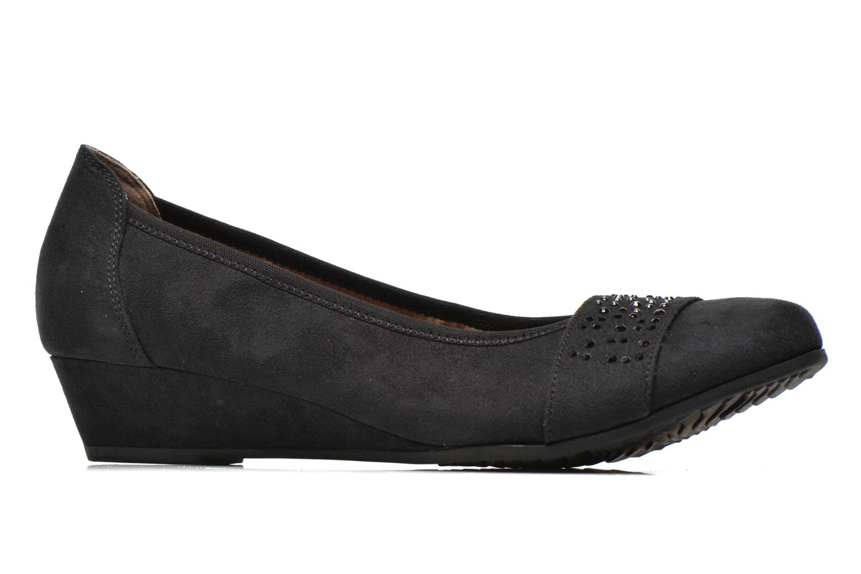 Escarpins Jana shoes Dolina Noir vue derrière