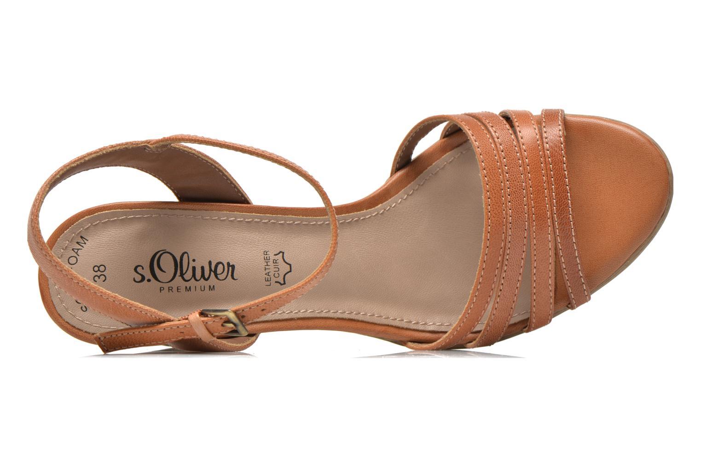 Sandales et nu-pieds S.Oliver Elsata Marron vue gauche