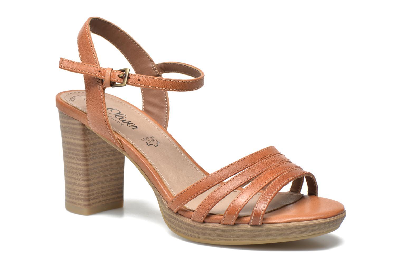 Sandales et nu-pieds S.Oliver Elsata Marron vue détail/paire