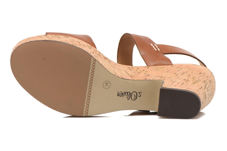 Sandales et nu-pieds S.Oliver Cabuta Marron vue haut