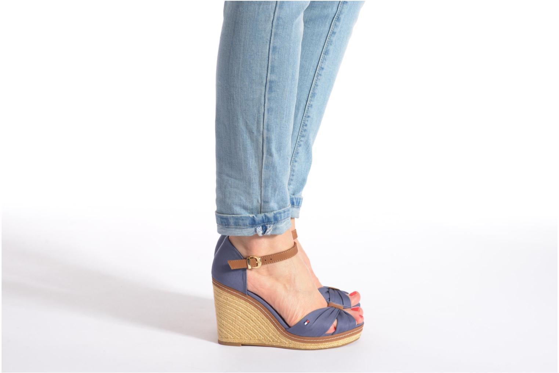 Sandales et nu-pieds Tommy Hilfiger Elena 1D Bleu vue bas / vue portée sac