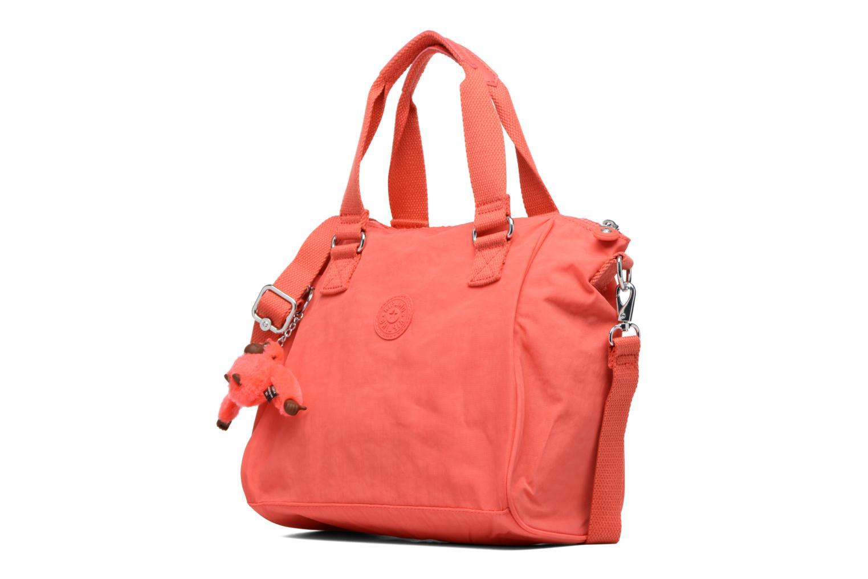 Borse kipling Amiel Arancione modello indossato