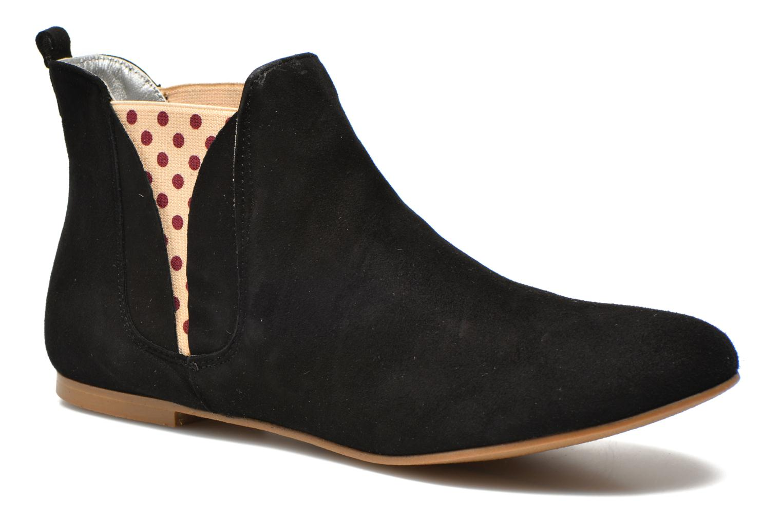 Ankle boots Ippon Vintage Sun flydots Black detailed view/ Pair view