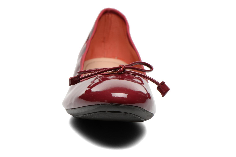 Ballerines Georgia Rose Sagga Bordeaux vue portées chaussures