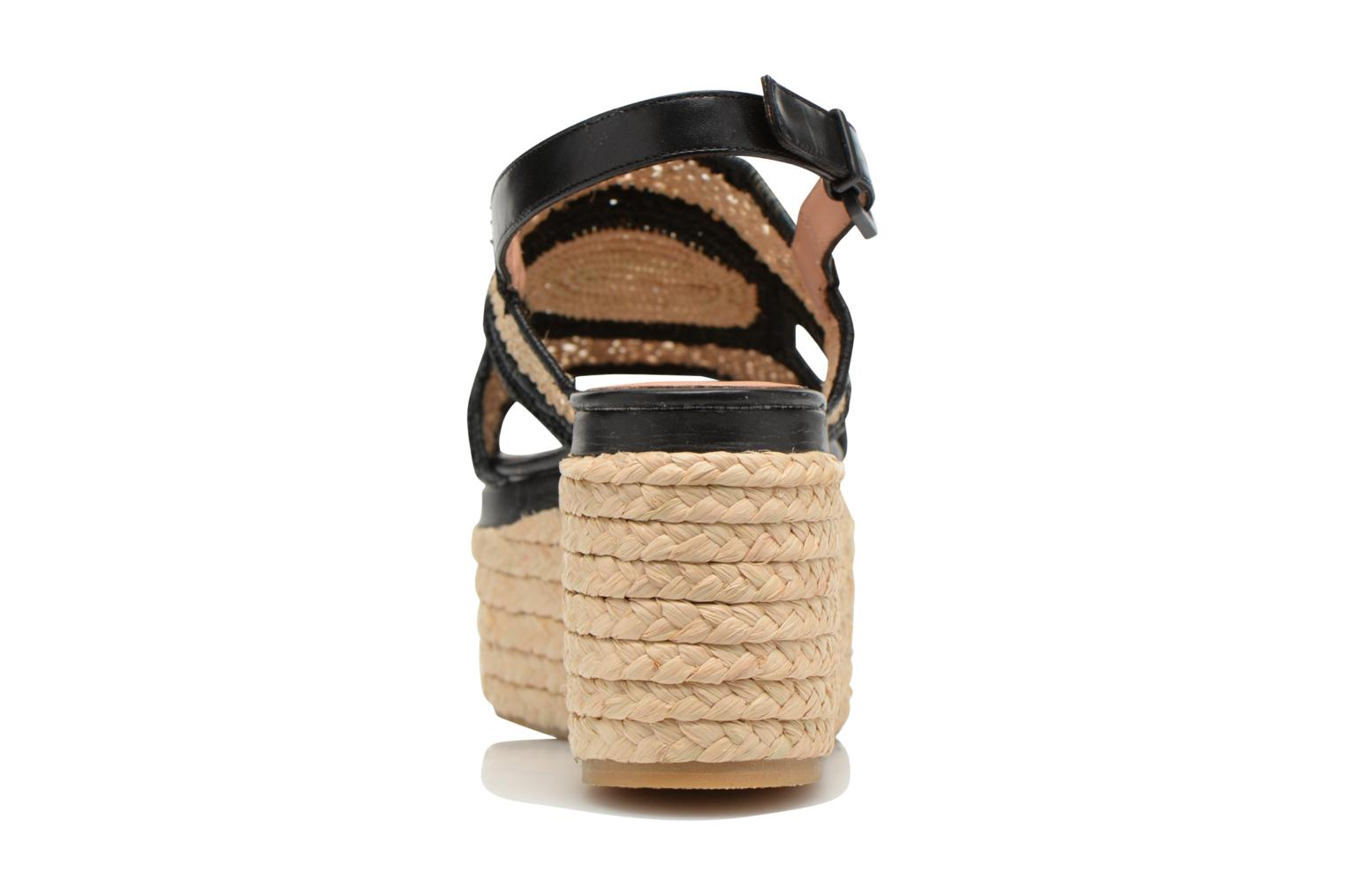 Sandals Clergerie Antic Beige view from the right
