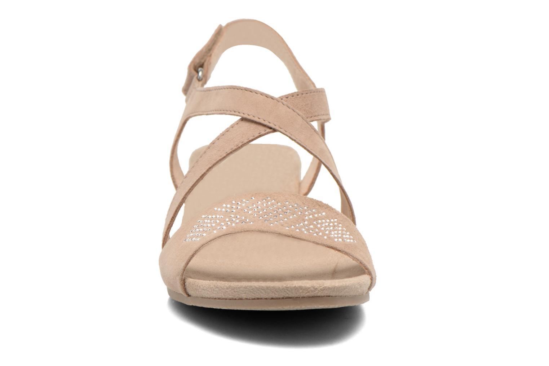 Sandalen Caprice Lynopi beige schuhe getragen