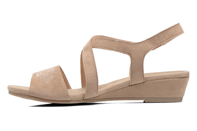 Sandalen Caprice Lynopi beige ansicht von vorne