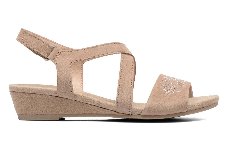 Sandals Caprice Lynopi Beige back view