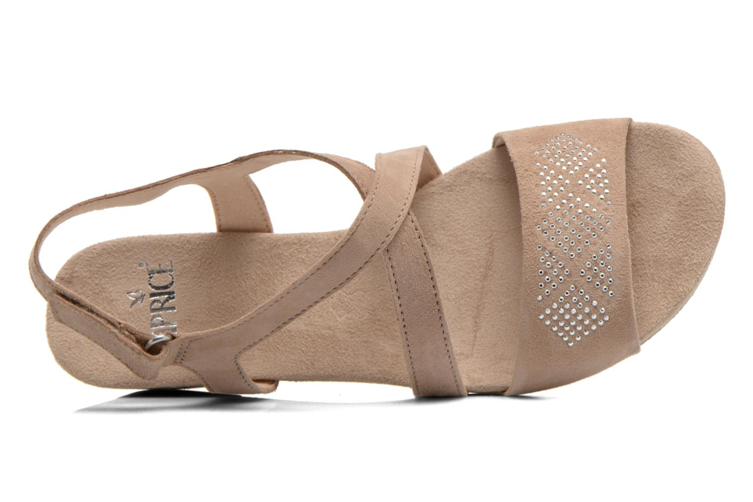 Sandals Caprice Lynopi Beige view from the left