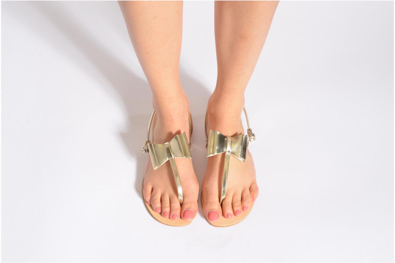 Sandales et nu-pieds I Love Shoes Donoeud Or et bronze vue bas / vue portée sac