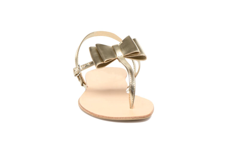 Sandales et nu-pieds I Love Shoes Donoeud Or et bronze vue portées chaussures