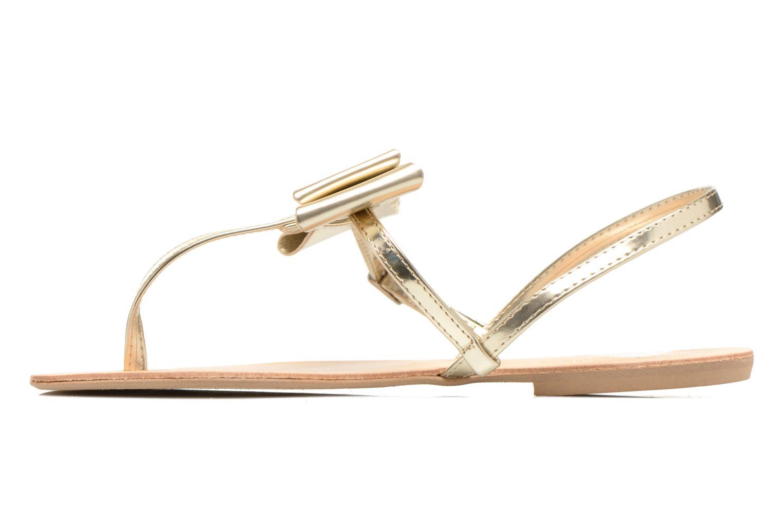 Sandales et nu-pieds I Love Shoes Donoeud Or et bronze vue face