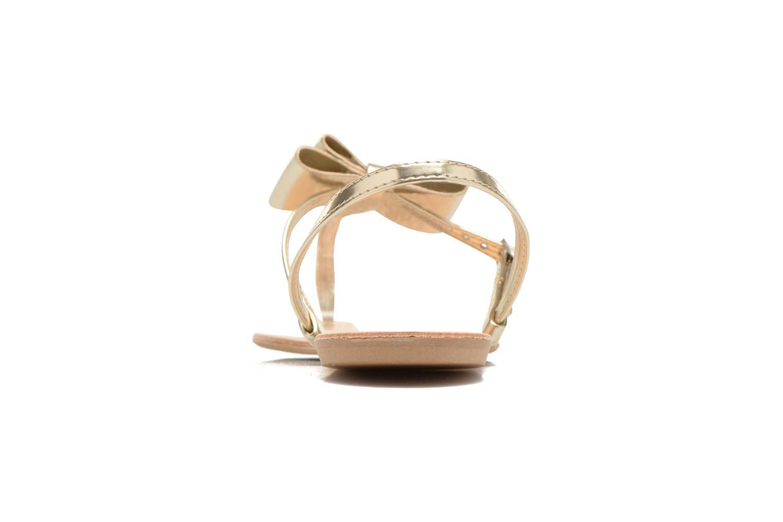 Sandales et nu-pieds I Love Shoes Donoeud Or et bronze vue droite