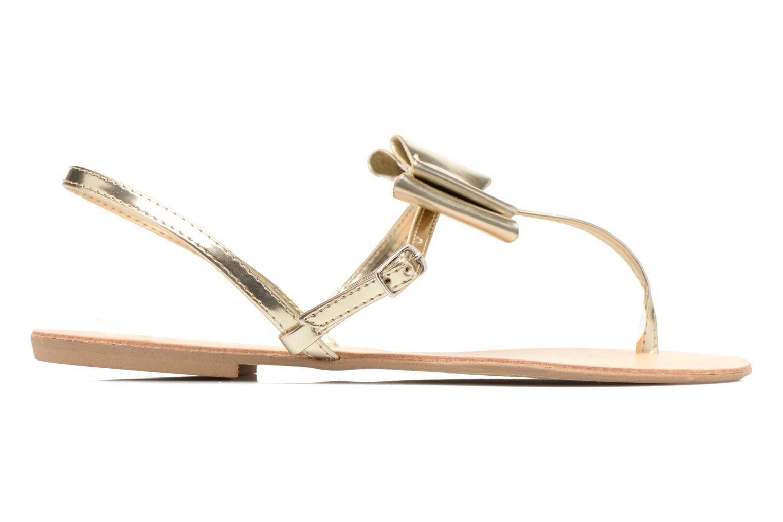 Sandales et nu-pieds I Love Shoes Donoeud Or et bronze vue derrière