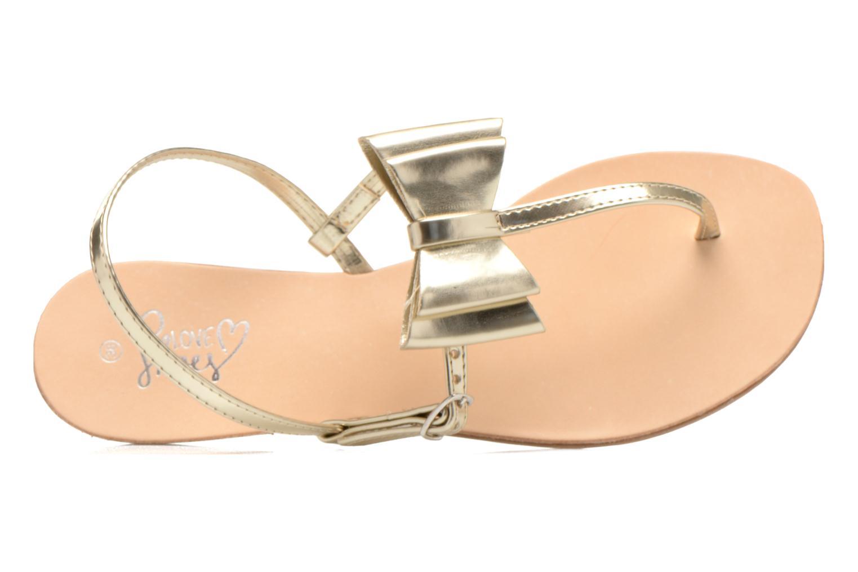 Sandales et nu-pieds I Love Shoes Donoeud Or et bronze vue gauche