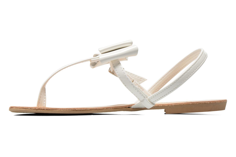 Sandales et nu-pieds I Love Shoes Donoeudou Blanc vue face