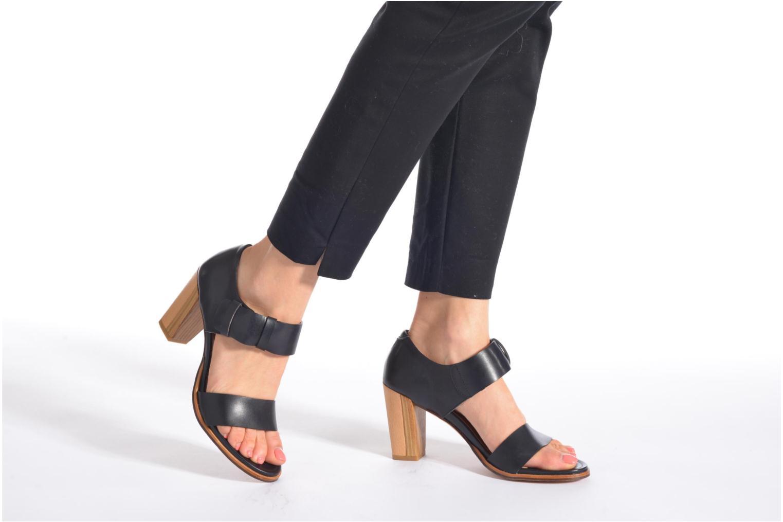 Sandales et nu-pieds Neosens Gloria S198 Noir vue bas / vue portée sac