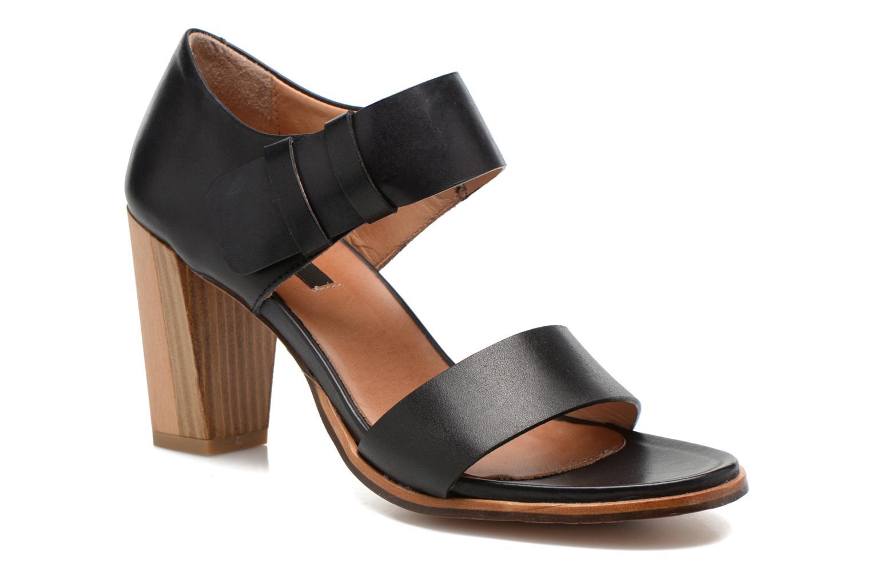 Sandals Neosens Gloria S198 Black detailed view/ Pair view