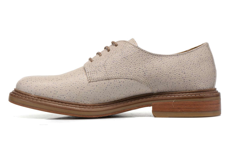 Chaussures à lacets Base London Invent Sinclair Beige vue face
