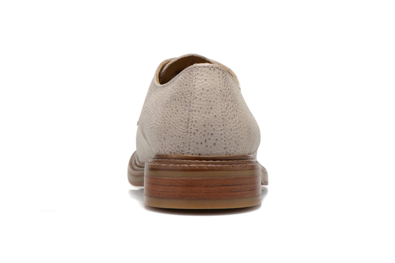 Chaussures à lacets Base London Invent Sinclair Beige vue droite