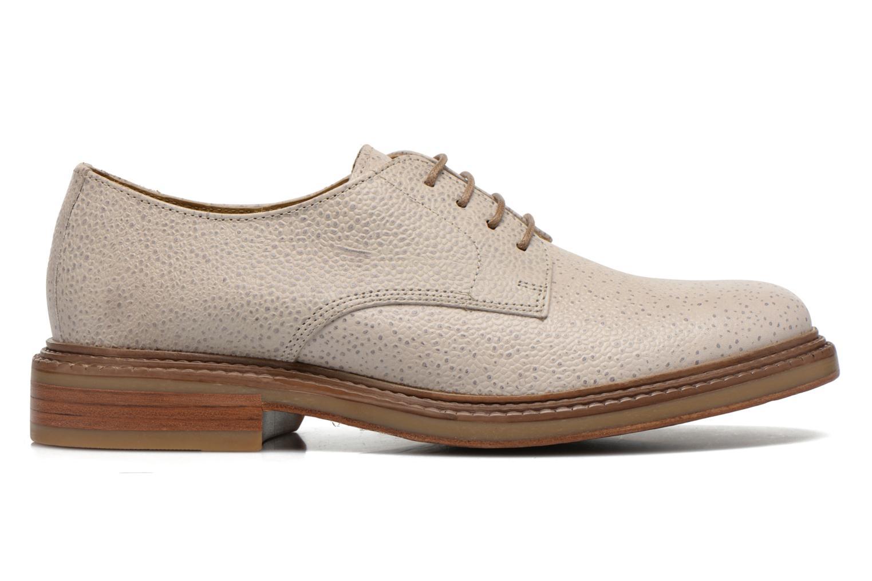 Chaussures à lacets Base London Invent Sinclair Beige vue derrière