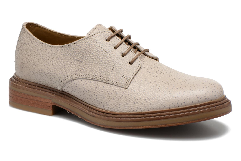 Chaussures à lacets Base London Invent Sinclair Beige vue détail/paire