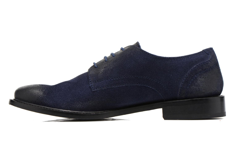 Chaussures à lacets Base London Max Benno Bleu vue face