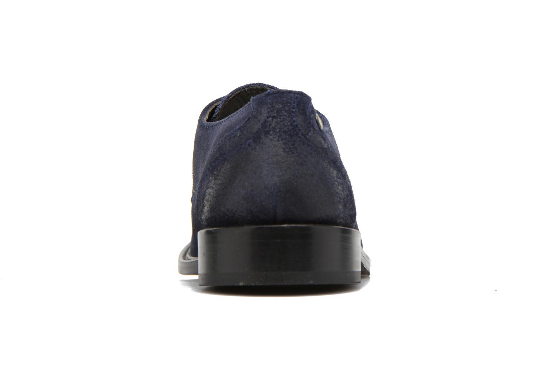 Chaussures à lacets Base London Max Benno Bleu vue droite
