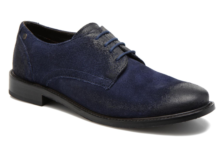 Chaussures à lacets Base London Max Benno Bleu vue détail/paire