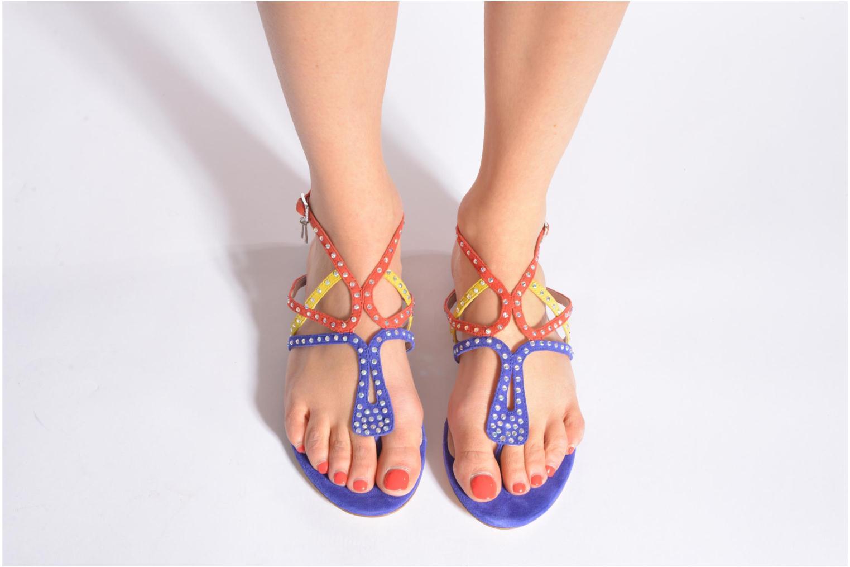 Sandale Clio plate multicolor bleu
