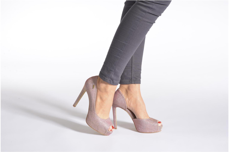 Marise Open toe Rose metallisé