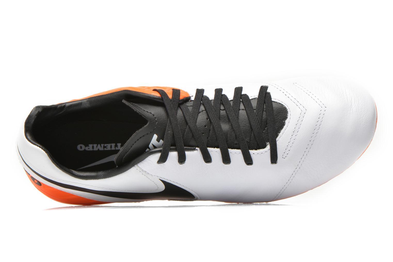 Chaussures de sport Nike Tiempo Mystic V Fg Blanc vue gauche