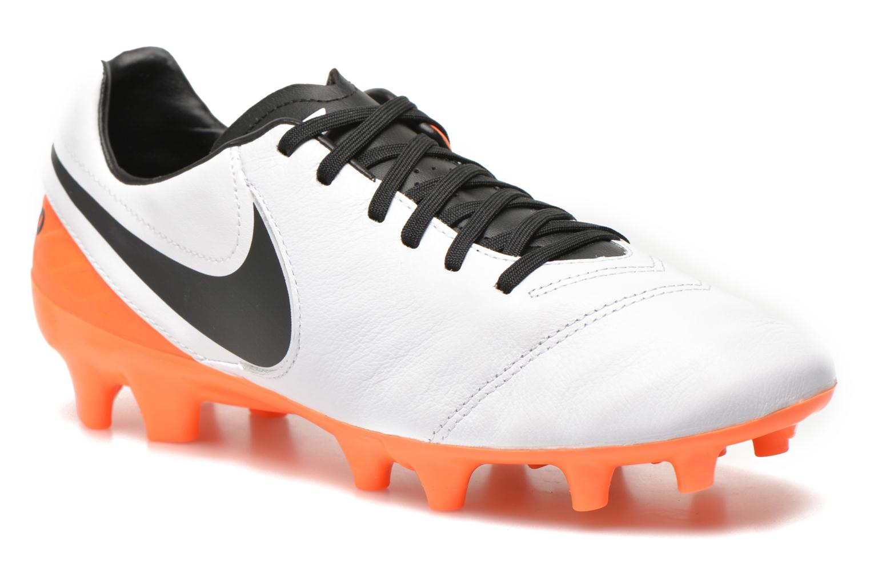 Chaussures de sport Nike Tiempo Mystic V Fg Blanc vue détail/paire