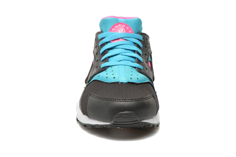 Nike Huarache Run (Gs) Black White-Pink Blast-Gmm Bl