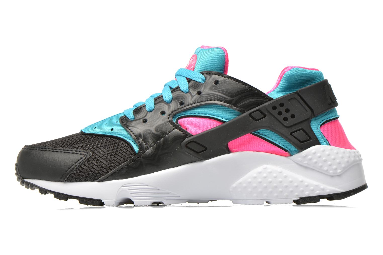 Nike Huarache Run (Gs) Black White-Pink Blast-Gmm Bl