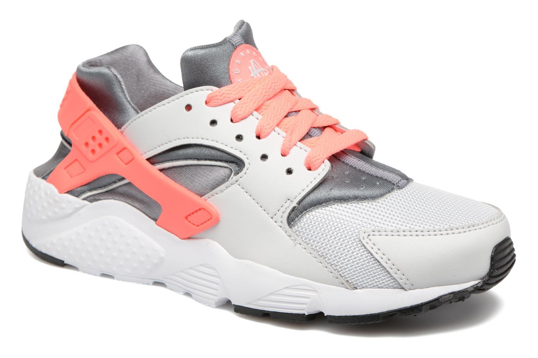 Nike Huarache Run (Gs) Pure Platinum/Lava Glow-Cool Grey-White