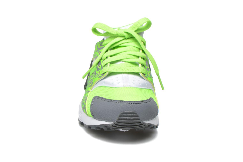 Sneaker Nike Nike Huarache Run Print (Gs) grün schuhe getragen