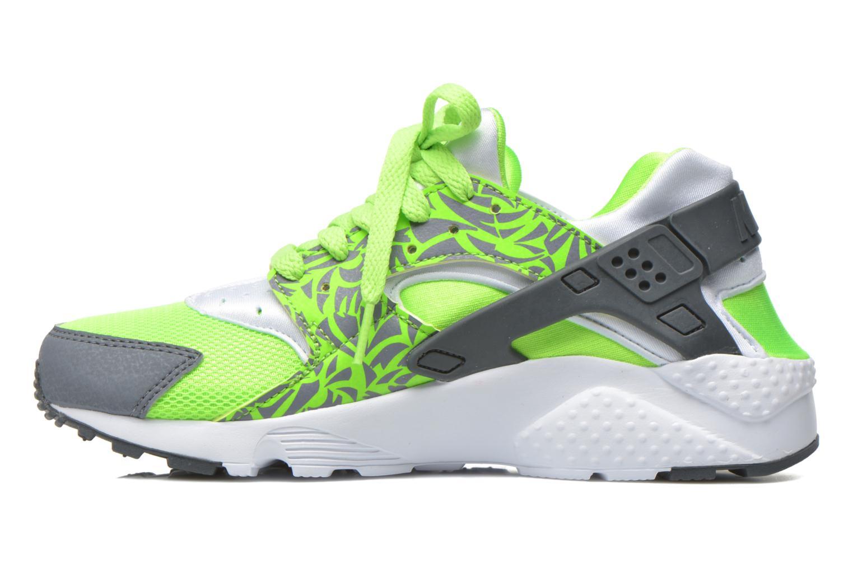 Nike Huarache Run Print (Gs) Electric Green Cool Grey-White